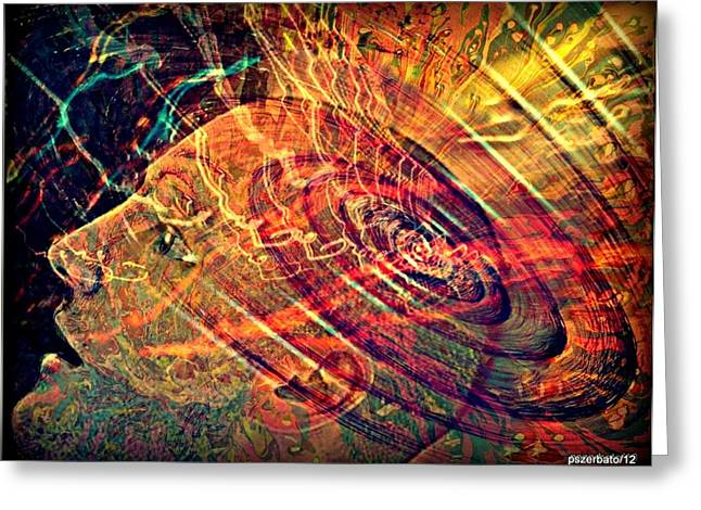 Conscious Digital Greeting Cards - Electromagnetic Waves Greeting Card by Paulo Zerbato
