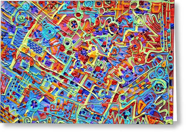 Decorate Reliefs Greeting Cards - Electronics for cats Greeting Card by Regina Valluzzi