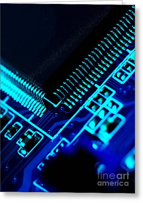 Mainboard Greeting Cards - Electronics Greeting Card by Peter Gudella