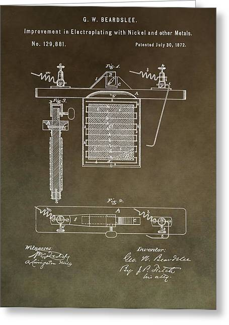 Electric Current Greeting Cards - Electroplating Procedure Patent Greeting Card by Dan Sproul
