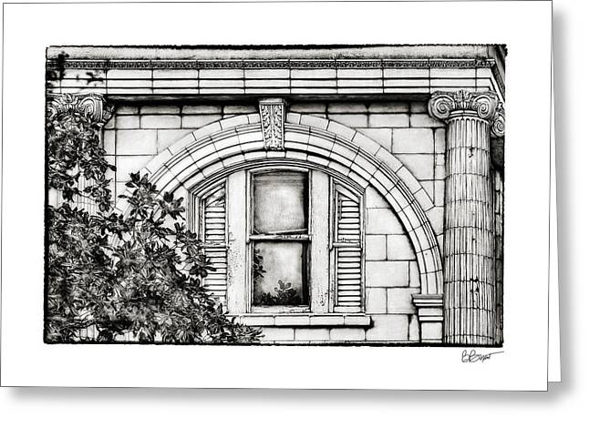 Brenda Bryant Greeting Cards - Elegance in the French Quarter in Black and White Greeting Card by Brenda Bryant