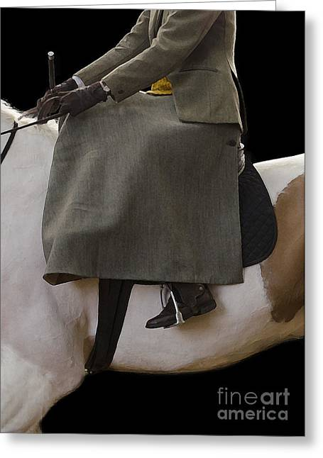 Showjumping Greeting Cards - Elegance Greeting Card by Linsey Williams