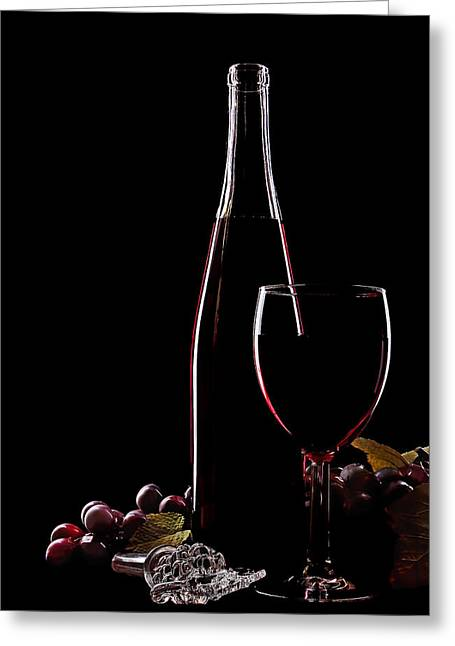 Wine-glass Greeting Cards - Elegance Greeting Card by Marcia Colelli