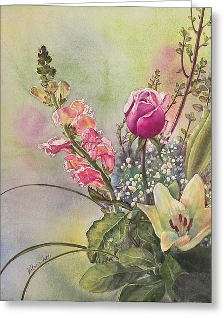 Sunlight On Flowers Greeting Cards - Elegance Greeting Card by Victoria Lisi