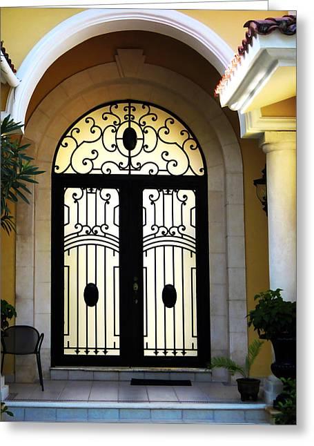 Entryway Greeting Cards - Elegant Architecture Greeting Card by Marilyn Hunt