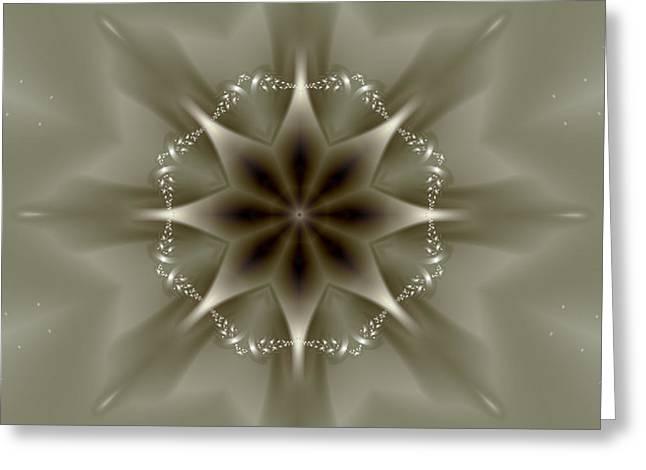 Manley Greeting Cards - Elegant Fractal Kaleidoscope II Greeting Card by Gina Lee Manley