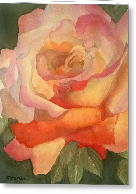 Multicolored Roses Greeting Cards - Elegant Rose Greeting Card by M Carlen