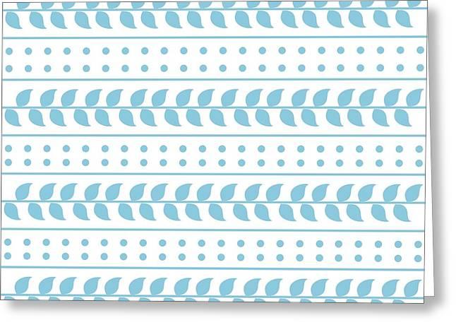 Apparel Greeting Cards - Elegant Square Pattern Light Blue Greeting Card by Prajakta P