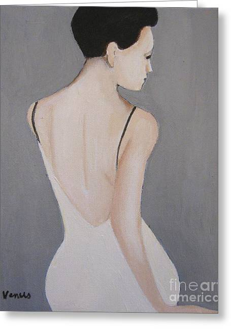 Posters Of Nudes Mixed Media Greeting Cards - Elegant Woman Greeting Card by Venus