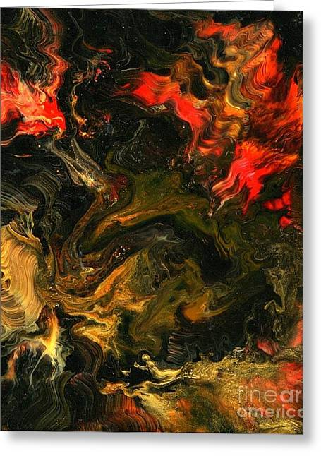 Element Of Fire Greeting Cards - Element of Fire Greeting Card by Charles Lucas