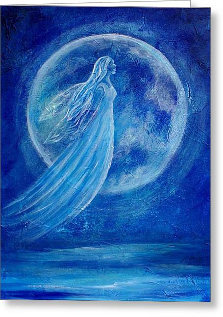Earthangel Greeting Cards - Elemental Earth Angel of Water Greeting Card by The Art With A Heart By Charlotte Phillips