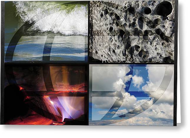 Mother Of Four Greeting Cards - Elemental Forces Greeting Card by Shawna  Rowe