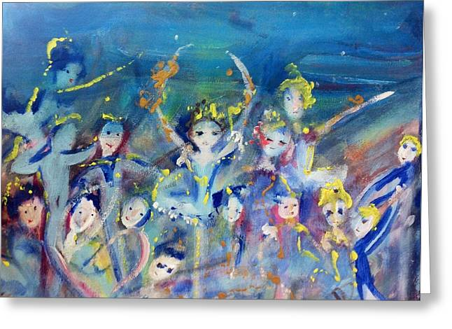 Elementals On The Beach Ballet Greeting Card by Judith Desrosiers