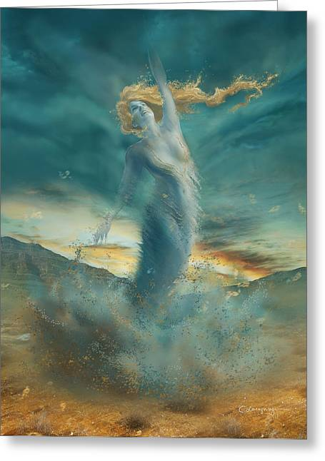 Phantasie Greeting Cards - Elements - Wind Greeting Card by Cassiopeia Art