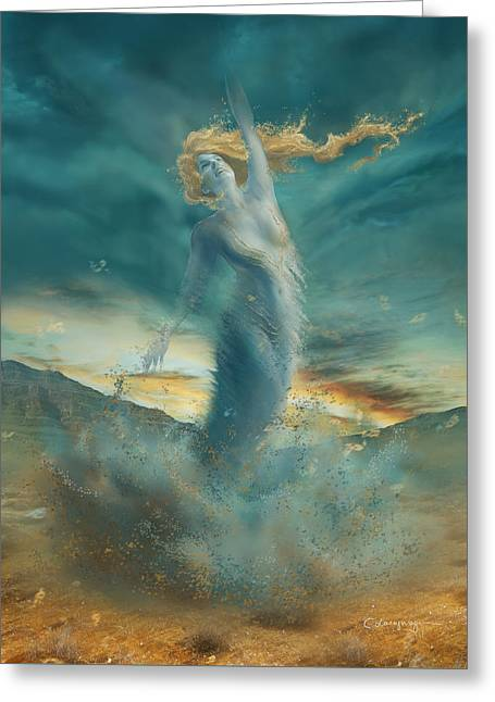Elements - Wind Greeting Card by Cassiopeia Art