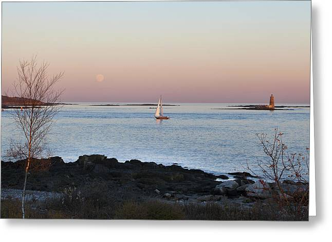Moonrise Greeting Cards - Elements Greeting Card by Eric Gendron
