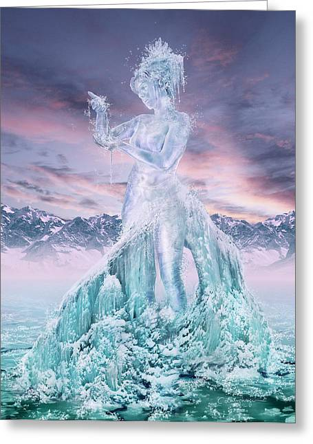 Graphics Art Greeting Cards - Elements - Water Greeting Card by Cassiopeia Art