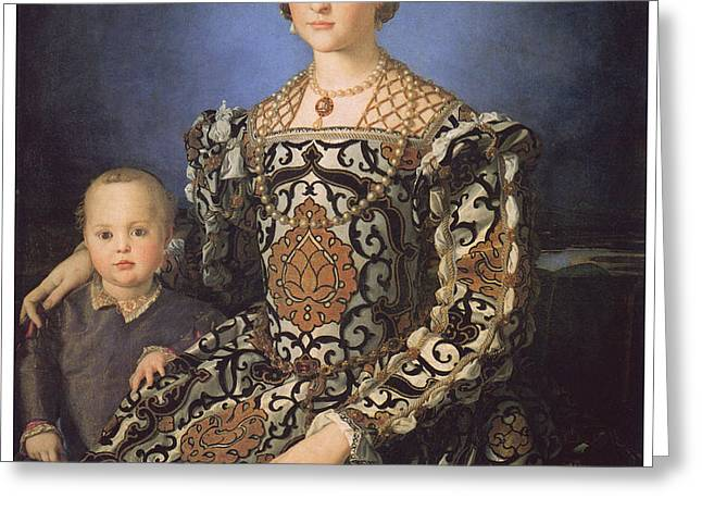 Eleonora ad Toledo Grand Duchess of Tuscany Greeting Card by Agnolo Bronzino