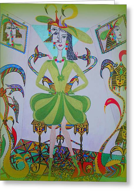 Eleonore Friend Princess Melisa Greeting Card by Marie Schwarzer