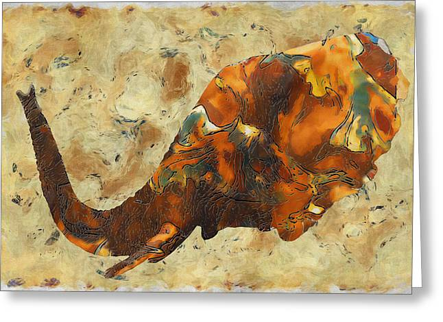 Incisors Greeting Cards - Elephant 2- Happened At The Zoo  Greeting Card by Jack Zulli