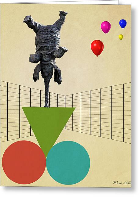 Domestic Digital Greeting Cards - Elephant 3 Greeting Card by Mark Ashkenazi