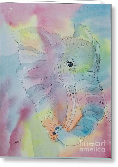 Impressionist Greeting Cards - Elephant Dream Greeting Card by Ellen Levinson