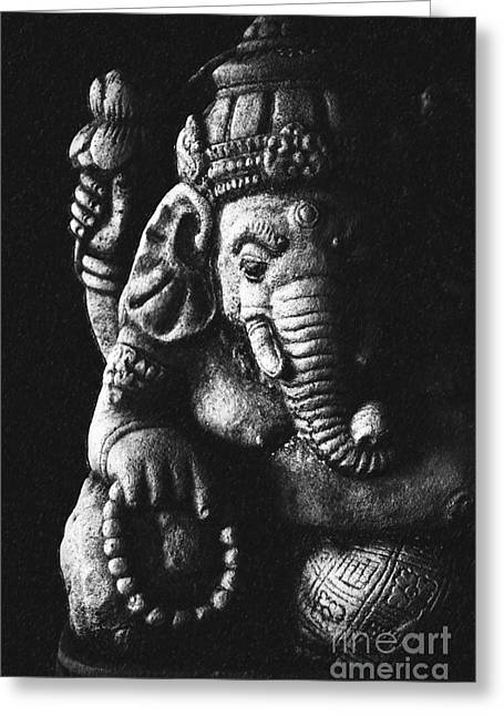 Elephant God Greeting Card by Tim Gainey