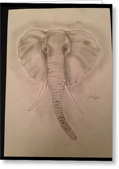 Etc. Drawings Greeting Cards - Elephant Greeting Card by  Jessica Hope