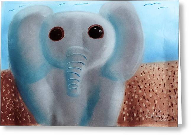Elephant Greeting Card by Joshua Maddison