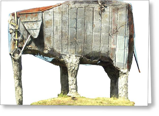 Animals Sculptures Greeting Cards - Elephant Greeting Card by Konni Jensen