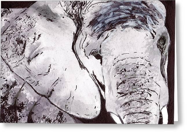 Elephant Greeting Card by Michael Rados
