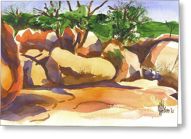 Wacky Greeting Cards - Elephant Rocks Revisited I Greeting Card by Kip DeVore