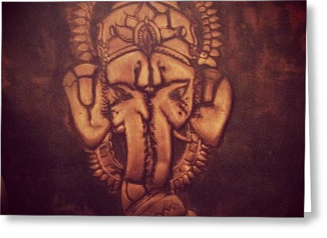 Religious Reliefs Greeting Cards - Elephants  Greeting Card by Alexander  Anaya