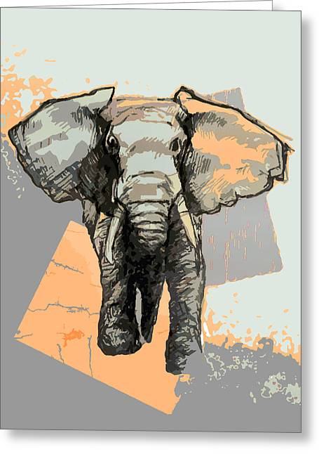 Wwf Greeting Cards - Elephants Laugh Greeting Card by Alison Schmidt Carson
