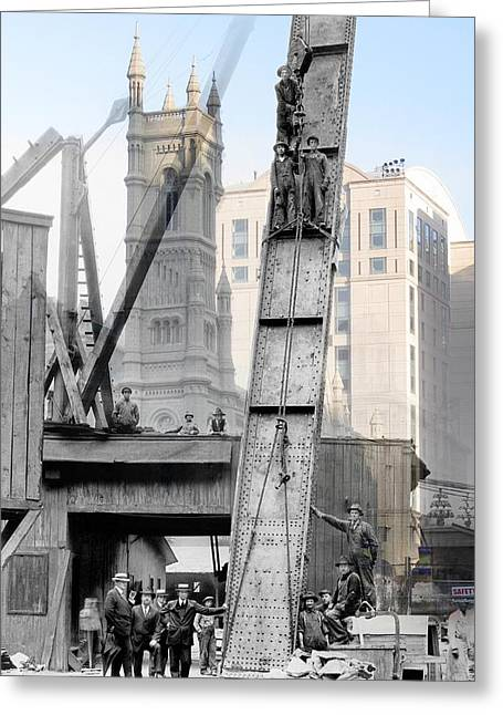Filbert Greeting Cards - Elevated Construction Greeting Card by Eric Nagy