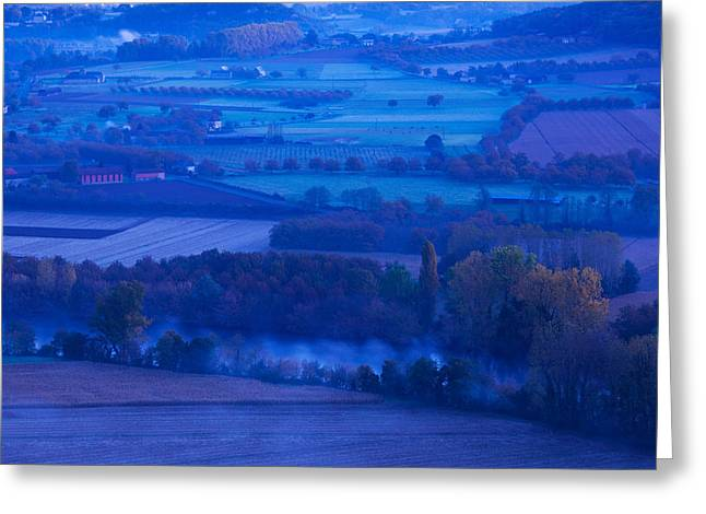 Dordogne Greeting Cards - Elevated View Of The Dordogne River Greeting Card by Panoramic Images