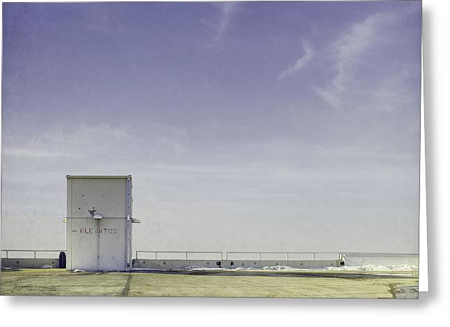 Roof Tops Greeting Cards - Elevator Greeting Card by Scott Norris