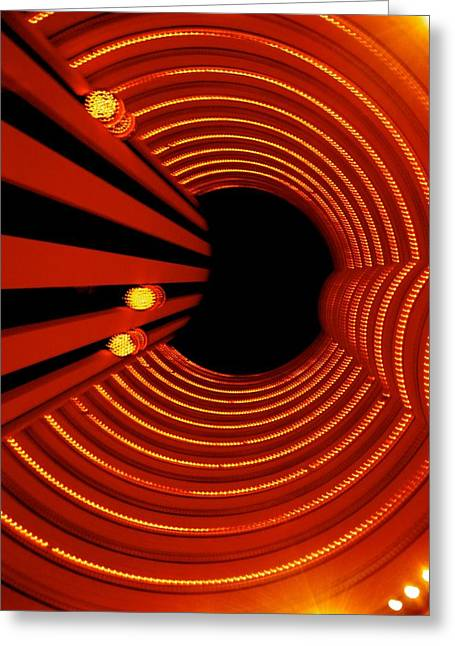 Red Greeting Cards - Elevator Greeting Card by Sheela Ajith