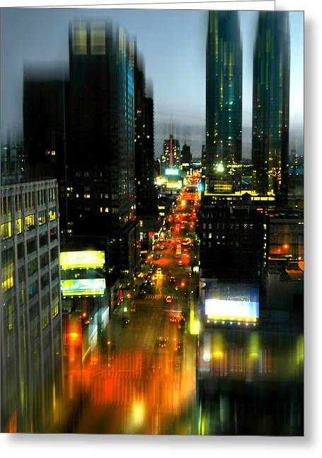 Midtown West Greeting Cards - Eleventh Avenue Greeting Card by Diana Angstadt