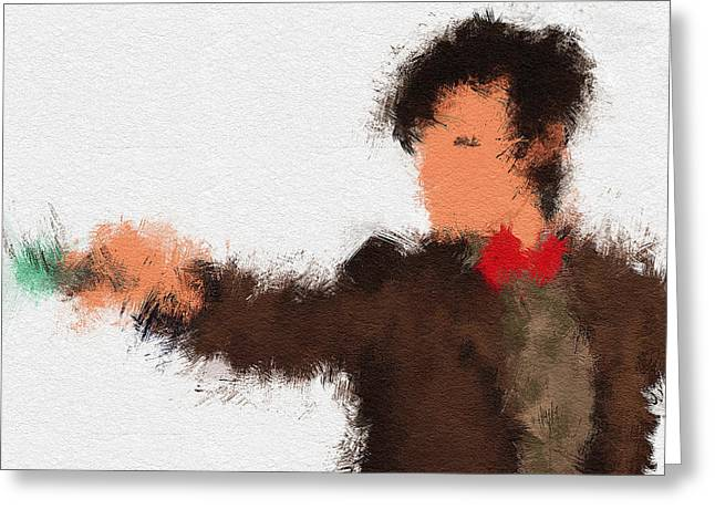 11th Doctor Greeting Cards - Eleventh Doctor Greeting Card by Miranda Sether