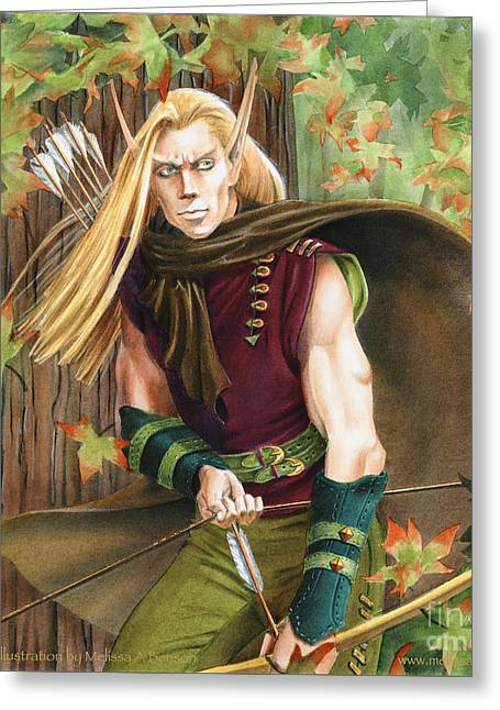 Elf Hunter Greeting Card by Melissa A Benson