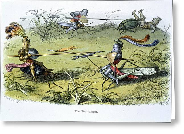 Elf Knights Jousting Greeting Card by British Library