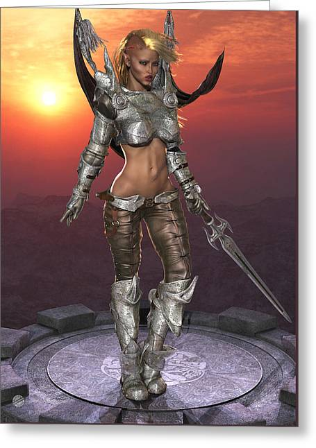 Elven Archer Greeting Cards - Elf Maiden Greeting Card by Todd and candice Dailey