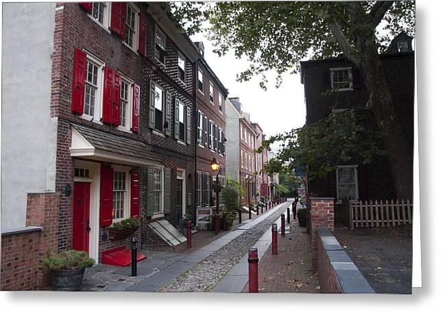 Philadelphia Alley Greeting Cards - Elfreths Alley - Olde City Philadelphia Greeting Card by Bill Cannon