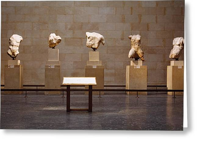 Elgin Marbles Display In A Museum Greeting Card by Panoramic Images