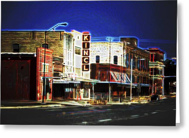Old Town Digital Greeting Cards - Elgin Old Town Street Greeting Card by Linda Phelps
