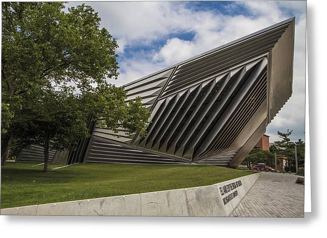 Michigan State Greeting Cards - Eli and Edythe Broad Art Museum  Greeting Card by John McGraw