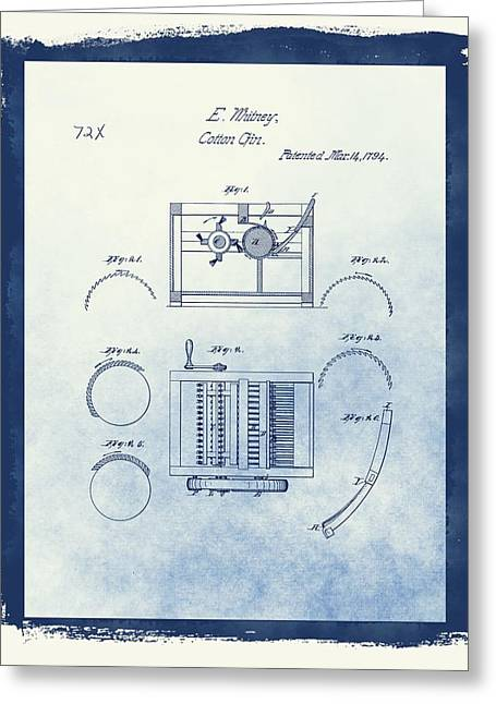 Slaves Greeting Cards - Eli Whitneys Cotton Gin Patent Greeting Card by Dan Sproul