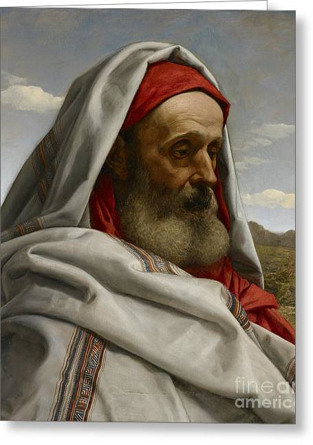 Elders Greeting Cards - Eliezer of Damascus Greeting Card by William Dyce