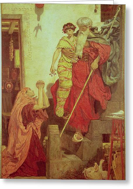 Beard Greeting Cards - Elijah Restoring The Widows Son, 1868 Greeting Card by Ford Madox Brown